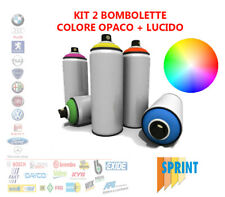 KIT 2 BOMBOLETTA SPRAY VERNICE AUTO FIAT 498 BLU LIDO ML375