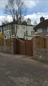 "Cast stone pier caps, 2.5 bricks walls Driveways12""ball Finial"
