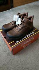 "Men's Skechers ""Brenton"" chukka boot dark brown - Size 8.0"