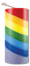 Rainbow Layer Layered SEVEN 7 CHAKRA Meditation Reiki Yoga Pride Candle Pillar