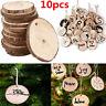 10Pcs Wood Christmas Tree Ornaments Props DIY Kids Painting Decor Craft Tags JP