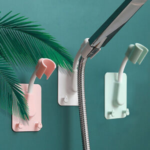 360° Shower Head Holder Adjustable Self-Adhesive Showerhead Bracket With 2Hooks