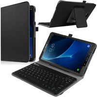 For Samsung Galaxy Tab A 10.1 T580 / T585 / T587 Folio Keyboard Case Cover Stand