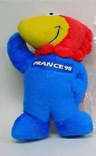 1998 FRANCE  FIFA WORLD CUP MASCOT PLUSH DOLL STUFFED ANIMAL 9""