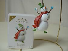 Hallmark Ornament 2011 LET IT SNOW Special Edition Repaint NIB Snowman