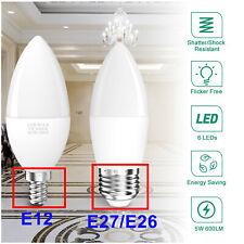 LED Flame Effect Light Bulb E27 E12 Simulated Nature Fire Flicker Lamp Decor US