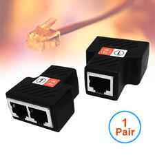 1 Pair RJ45 Female RJ45 Adapter Splitter 1 To 2 Female Ethernet Coupler Ports