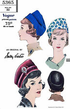 Hat Fabric Sewing Pattern Designer Sally Victor VOGUE # 5365 Millinery Cap 22""