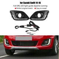 For Suzuki Swift 2014-2016 Car LED DRL Daytime Running Light Fog Lamp Left&Right