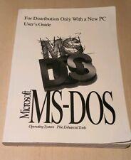Microsoft MS-DOS Operating System Plus Enhanced Tools Book - Retro
