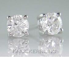 18ct White Gold 0.40ct Brilliant Cut Diamond Solitaire Stud Earrings