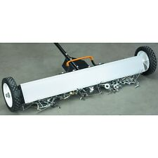 """30"""" Magnetic Sweeper With Wheels & 50 LB Pull pick up nails screws other metal!"""