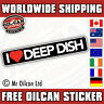 i love deep dish retro euro look sticker 180mm wide