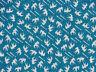 Tenugui Towel Cotton Gauze Cloth Japanese Fabric 'Blue Green Swallows'