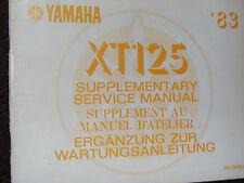 Manual de servicio suplementario Yamaha XT125 1983