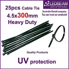 25PCS NYLON CABLE TIES 4.5MM X 300MM HEAVY DUTY ONLY $2.99