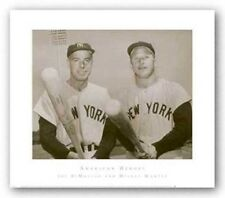 PHOTOGRAPHY ART PRINT American Heroes Joe DiMaggio and Mickey Mantle