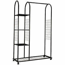 Clothing Rail - Clothes Airer Storage 5ft - Black Metal Heavy Duty John Lewis