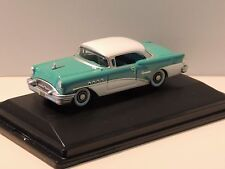 1955 BUICK CENTURY 2-DR. HARDTOP-HO SCALE-OXFORD #BC55001-TURQUOISE/POLO WHITE