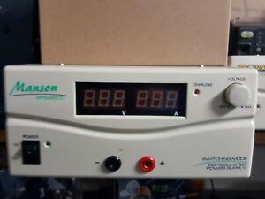 POWER SUPPLY MANSON SPS9800  60 amp 13.8volt  heavy duty terminal on back + fans