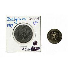 1 set of 2 Belgium 10 and 25 c. vf