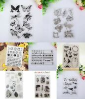 Clear Angel Transparent Rubber Stamp Sheet Cling Seal Scrapbooking HOT Sili O0P8
