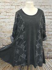 Moonshine Fashion Lagenlook Cord Tunika Übergröße Gr. 48 50 52 grau Neu 3