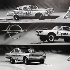 4 ART PRINTS - DICK LANDY - DODGE CORONET - 1965 1966 1967 - A/FX A990 426 HEMI