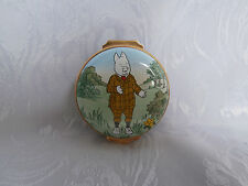 CRUMMLES FOR ROYAL DOULTON RUPERT THE BEAR PODGY PIG TRINKET PILL BOX RARE NEW