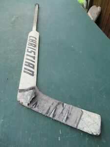 "VINTAGE  Wooden 55""  Long Hockey Stick Goalie CHRISTIAN"