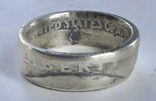 Quarter Ring Size 7 Sealed Coin Ring 1940 Silver Washington