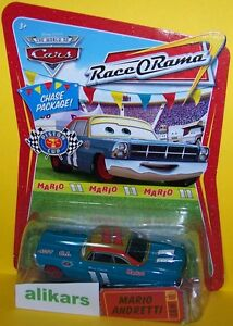 MARIO ANDRETTI Chase - Giocattolo Mattel Cars Disney Modellini Metallo Die-cast