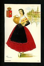 Embroidered clothing postcard Artist Elsi Gumier, Spain, Zaragoza woman #16