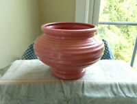Vtg USA Pottery Planter PINK #424 RIBBED Vase PLANTER Art Pottery