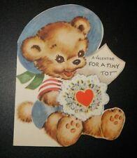 Vintage Unused 1947 Rust Craft Tiny Tot Bear Valentine Greeting Card