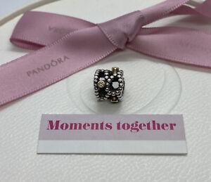 Pandora Diamond Delight 14k 14ct Gold 925 Silver Charm Authentic 790411D Genuine