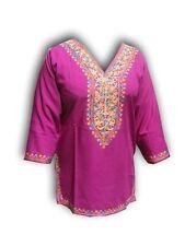 Handmade Kashmiri Kurti Top, Cashmere Embroidery Short Top Ethnic Ari Work Frock