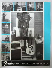 FENDER MUSICAL INSTRUMENTS 1960-61 PRODUCT BROCHURE CATALOG DOWNBEAT REPRINT #3