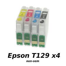 Epson T129 x4 Cartouches Rechargeables avec Puces non-oem★★★