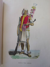 COSTUME OCEANIE / Guerrier de Timor ( Amfoang ) 1847 rehaussée de couleurs