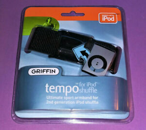 ⭐⭐️ Griffin Tempo - Ultimate Sport Armband For 2nd Gen iPod Shuffle - Black
