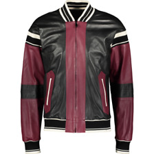 DOLCE & GABBANA Leather Bomber Jacket - IT 48/UK 38/US 38/EU 44/JP M