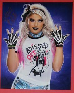 ALEXA BLISS signed photo , wwe, wcw, aew, NXT, njpw