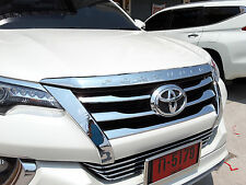 Fit For Toyota New Fortuner SUV 2015-2016 Chrome Front Hood Bonnet Cover Trim