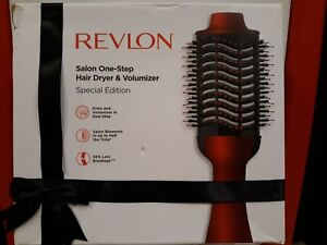 Revlon Salon One-Step Hair Dryer And Volumizer Hot Air Brush Red Special Edition