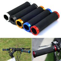 Cycling Double Lock-On Round Handle Grips Bar for Mountain Bike MTB BMX Bicycle