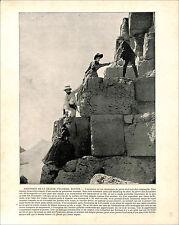 Ascension Great Pyramid of Giza Cheops Khufu Egypt /Leonardo da Vinci 1897 PRINT