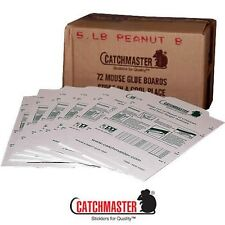 72 Catchmaster Mouse Mice rodent Insect Control Glue Board Traps Peanut Butter