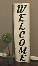 LARGE Rustic Front Door Porch Vertical Wooden Welcome Sign, 3ft tall!