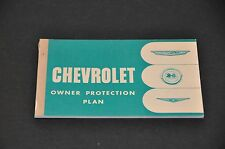 1961 NOS CHEVROLET OWNER PROTECTION PLAN  WARRANTY BOOK SECOND ISSUE GREEN COVER
